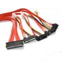 SAS (SFF 8484) to 4 SAS (SFF 8482) Cable