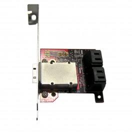 Адаптер Mini SAS to 4xSATA III на PCI планке